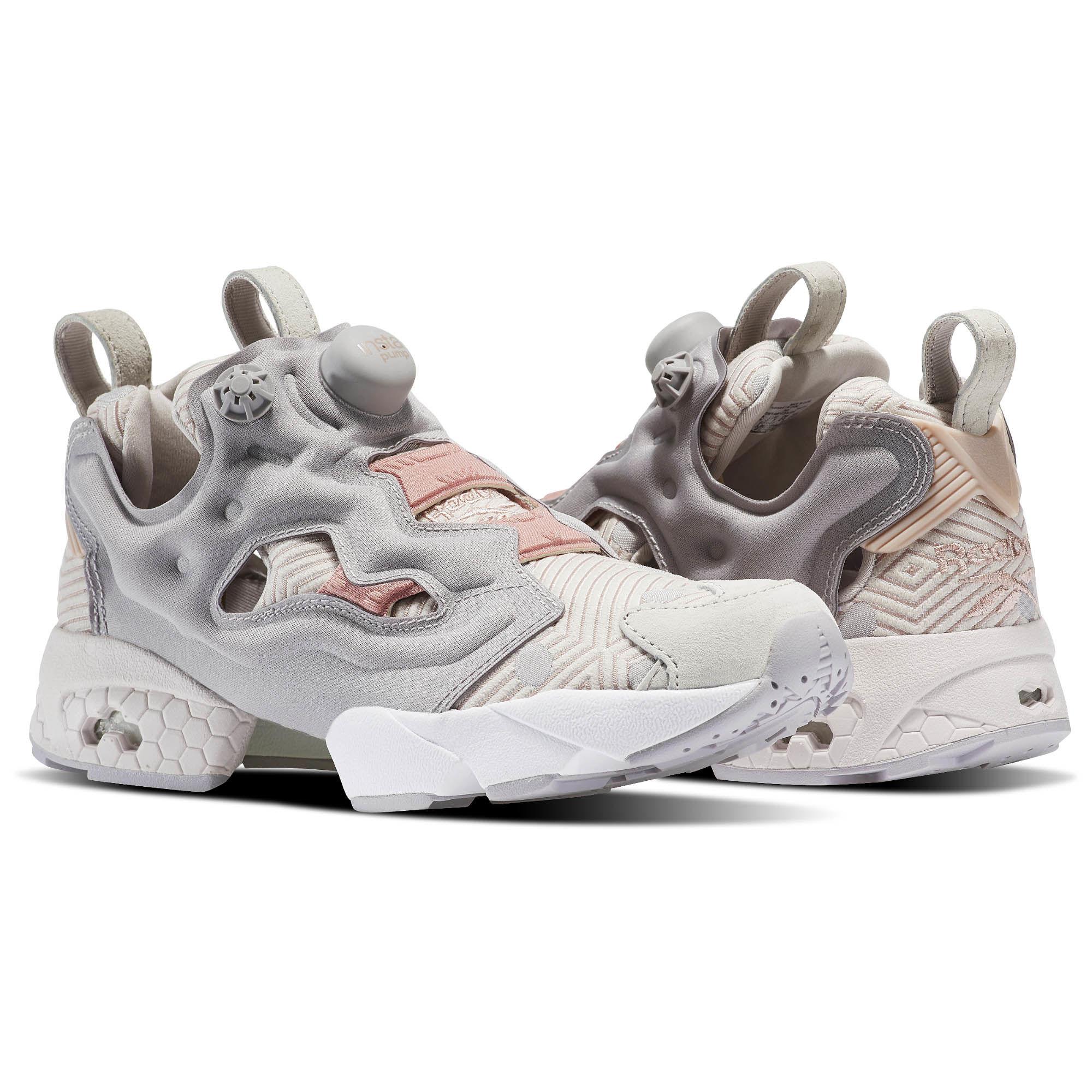 reebok insta pump womens reebok instapump fury fbt classics shoes white / beige / grey size KTMXTLC