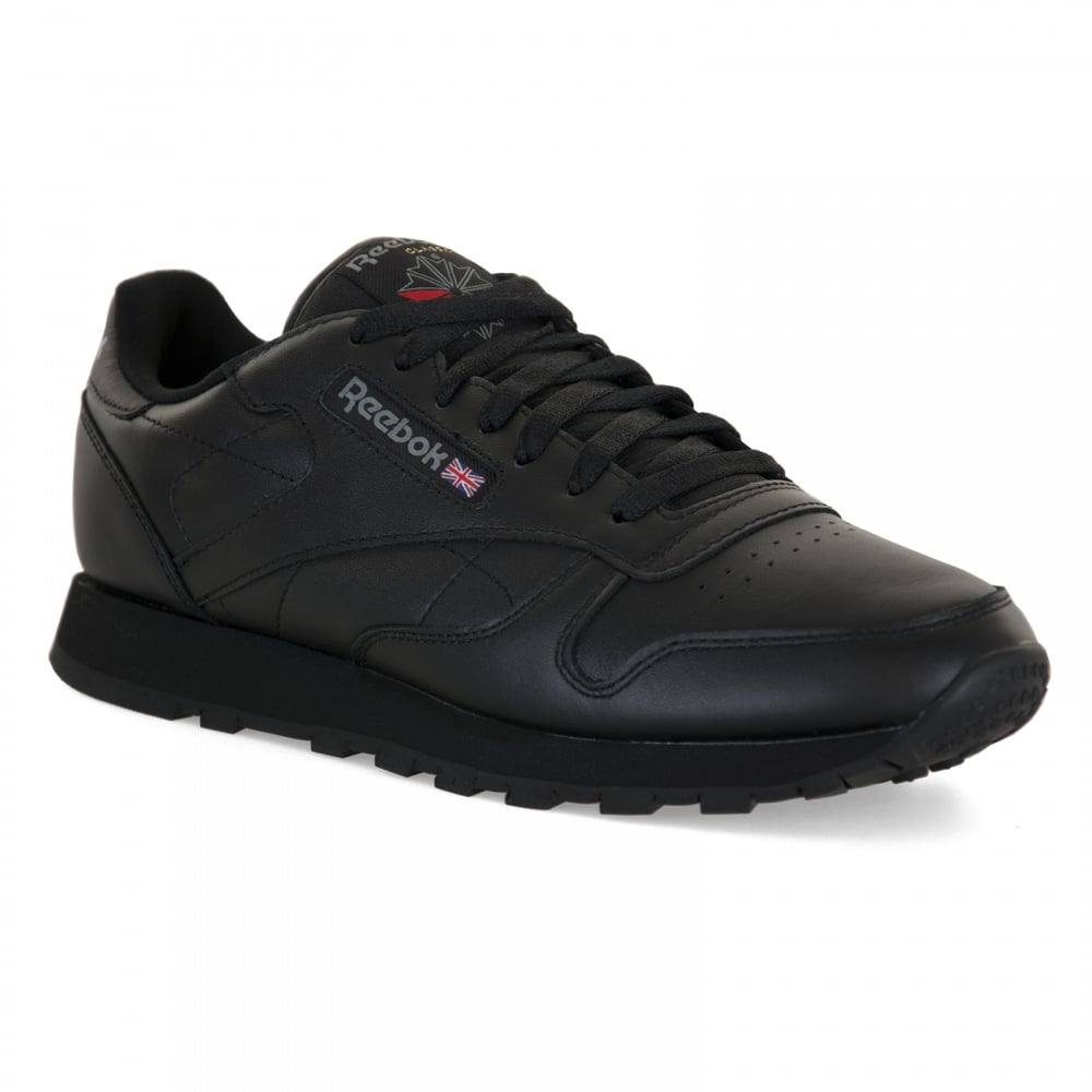 Reebok trainers reebok mens classic leather trainers (black) CQLGTTQ