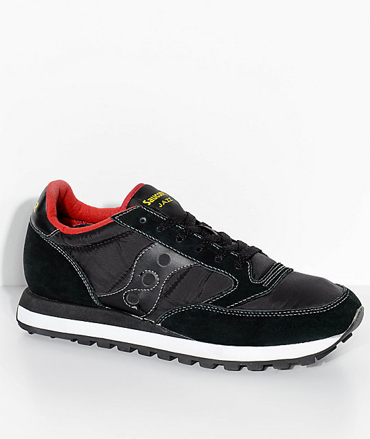 saucony jazz original black u0026 red shoes ... VMUXNOW