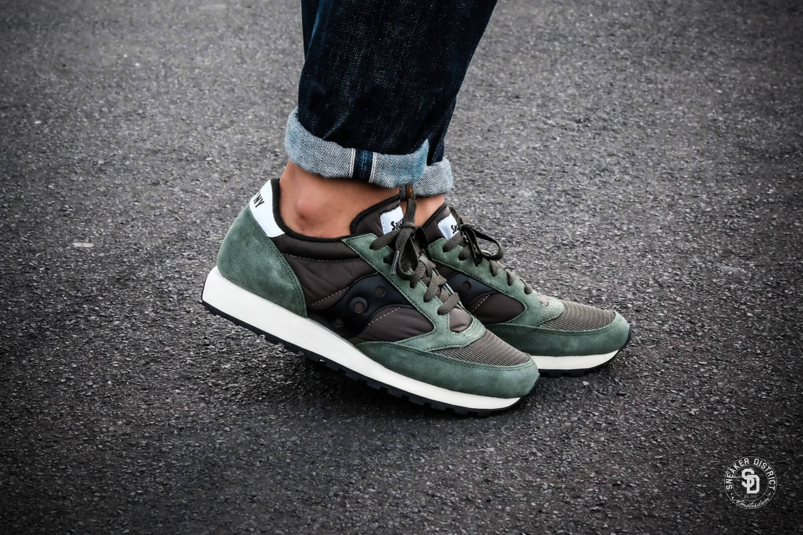 saucony jazz original vintage dark green/black - s70368-8 XOGYTND