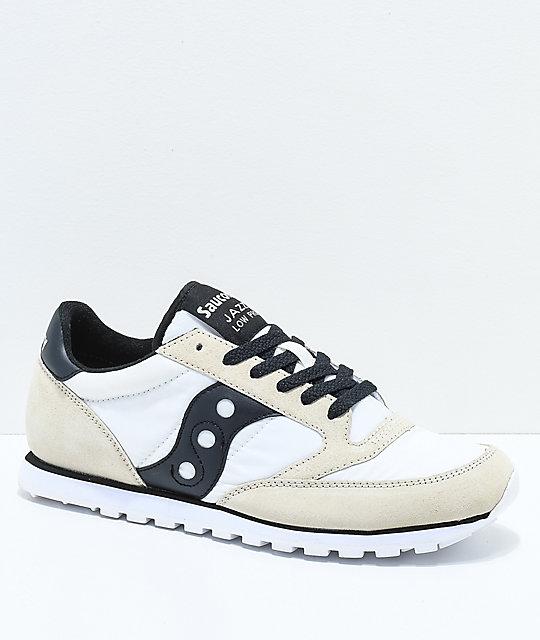 saucony shoes saucony jazz low pro white u0026 black shoes ... YGIKVOO