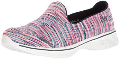 skechers go walk shoes skechers performance womenu0027s go walk 4 merge walking shoe,multi,7.5 b(m VPMHUVD