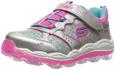 skechers kids girlsu0027 skech-air stardust running shoe,stardust silver, KJOBZAS