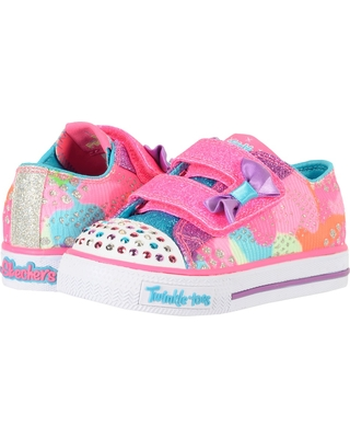 skechers kids - twinkle toes - shuffles 10834n lights (toddler/little kid) ( VBRVPLR