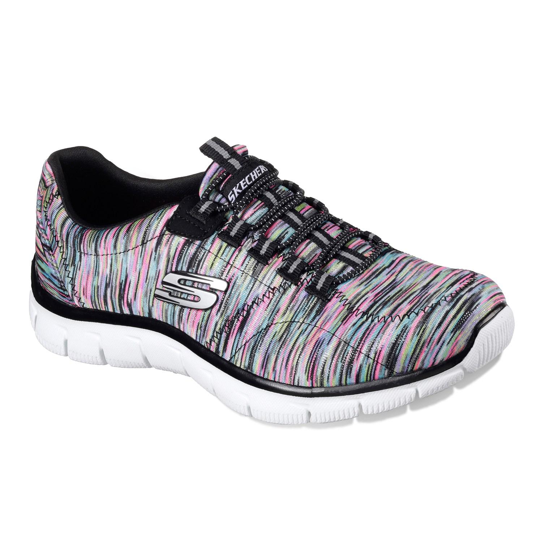 skechers walking shoes skechers relaxed fit womenu0027s bungee slip on walking shoes NSOETLC