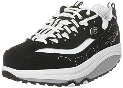 skechers walking shoes skechers womenu0027s shape ups strength wide fitness work out  sneaker,black/white,8.5 DGTOXRC