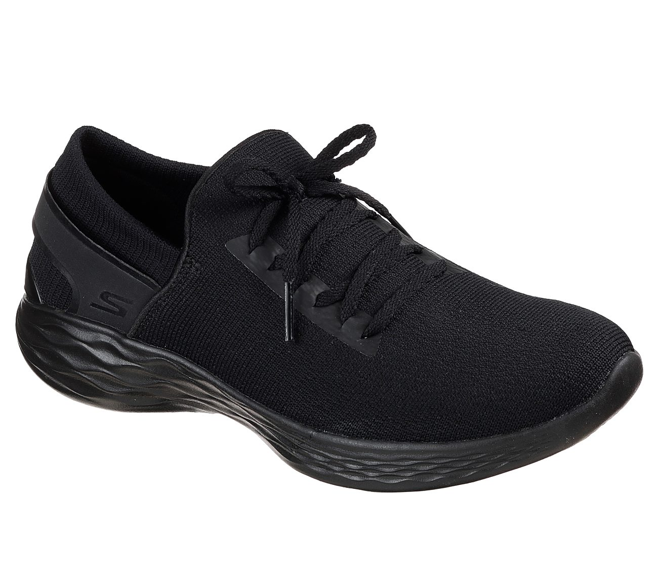 all black skechers shoes