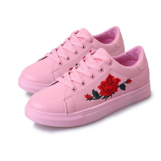 sneakers for girls women embroidered flower sneakers cool girls skateboarding shoes athletes  outdoor trainers flat JIWDCNJ