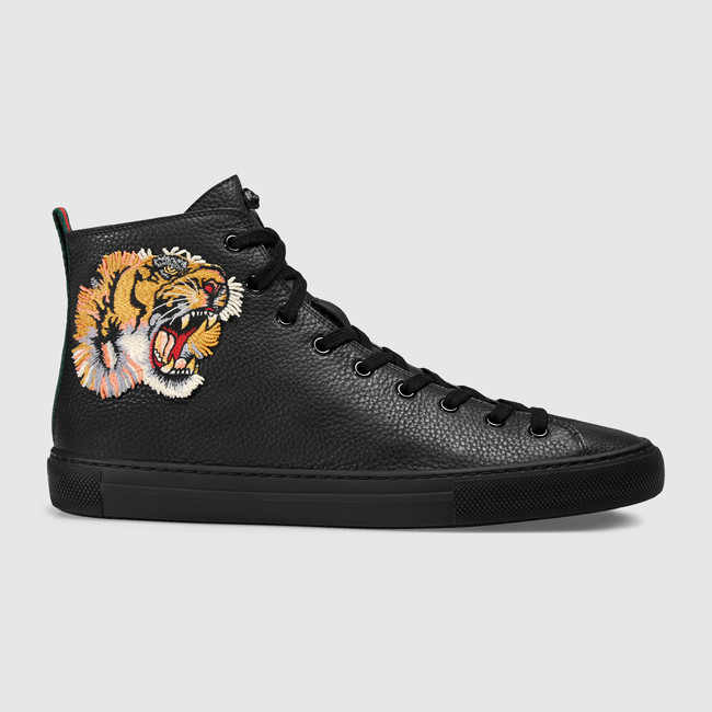 sneakers shoes for men leather high-top with tiger EIMZUNJ