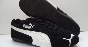 the puma speed cat in itu0027s most common color scheme, blacku0026white SCMSTAO