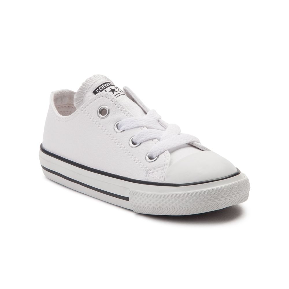 toddler converse chuck taylor all star lo leather sneaker - white - 99398966 IUAUCGR