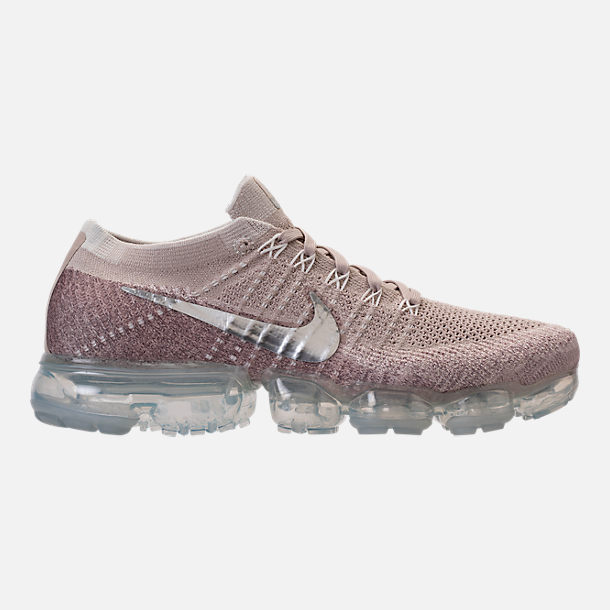 womens nike right view of womenu0027s nike air vapormax flyknit running shoes in  string/chrome/sunset OZDHQRT