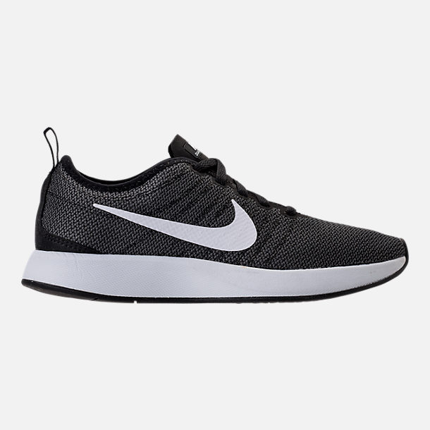 womens nike right view of womenu0027s nike dualtone racer casual shoes in black/white/dark  grey WJZFYRN