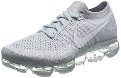 Womens Nike running shoes nike womenu0027s wmns air vapormax flyknit, pure platinum/white-wolf grey, 7.5 HHPHVBH