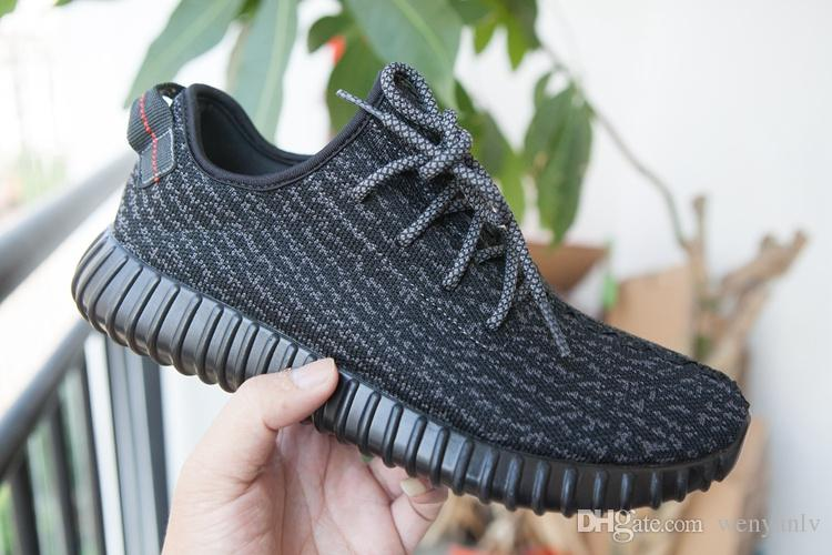 Womens sneakers 2018 new fashion womens sneakers kanye west 350 boots shoes pirate black TFCXWAK