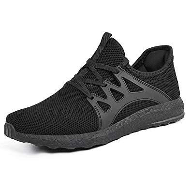 Womens sneakers mxson women walking shoes lightweight breathable mesh gym shoes black  5.5b(m) us FNYWQLI