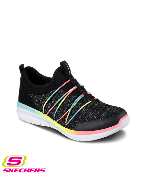 zapatos skechers skechers womenu0027s synergy 2.0 simply chic black/durabuck/multi athletic shoes MGNPXSQ
