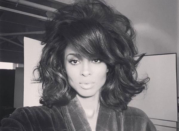 Ciara Channeling 1960's Hairstyles