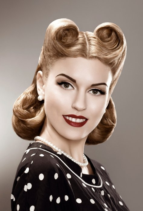 50s Hairstyles: Short Pin Up Hairstyles.