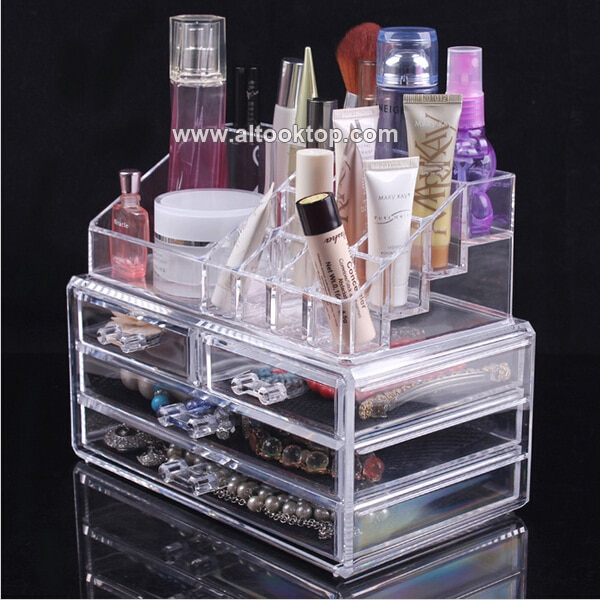 Acrylic makeup organizer make up organizer cosmetics plastic drawer