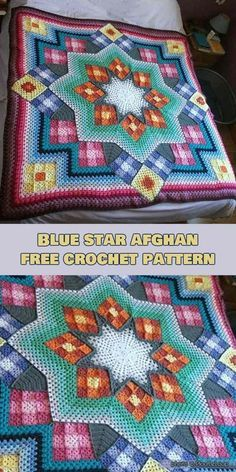 Blue Star Afghan Free Pattern and Video Tutorial | My next projects