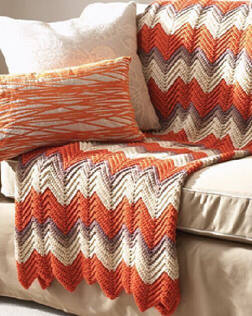 Ripple Afghan Crochet Pattern   FaveCrafts.com