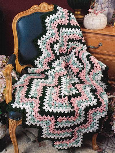 Crochet Patterns - Diamond Zigzag Afghan Crochet Pattern