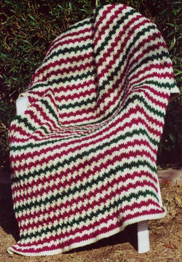 Free Pattern For Easy Flame Stitch Knit Afghan