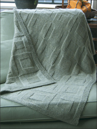 Knitting Patterns & Supplies - Reversible Afghan to Knit