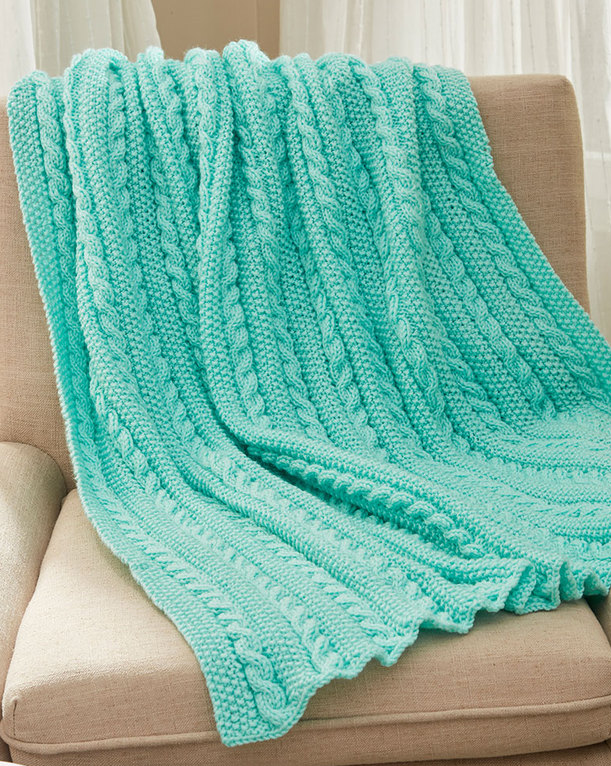 Easy Afghan Knitting Patterns | In the Loop Knitting