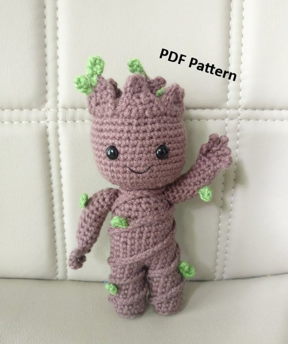 PATTERN Baby Groot vol2 Amigurumi Crochet Pattern | Etsy