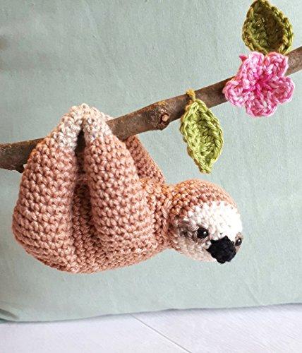 Amazon.com: Sloth Stuffed Animal, Sloth Plush, Crochet Sloth, Sloth