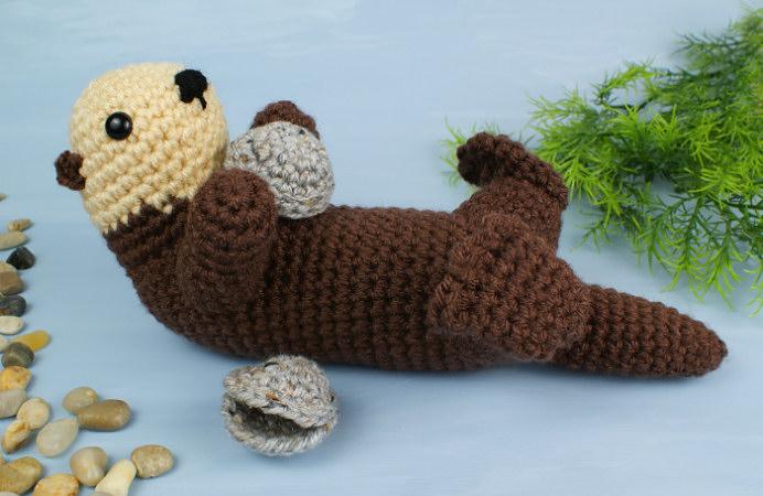 Sea Otter amigurumi crochet pattern : PlanetJune Shop, cute and