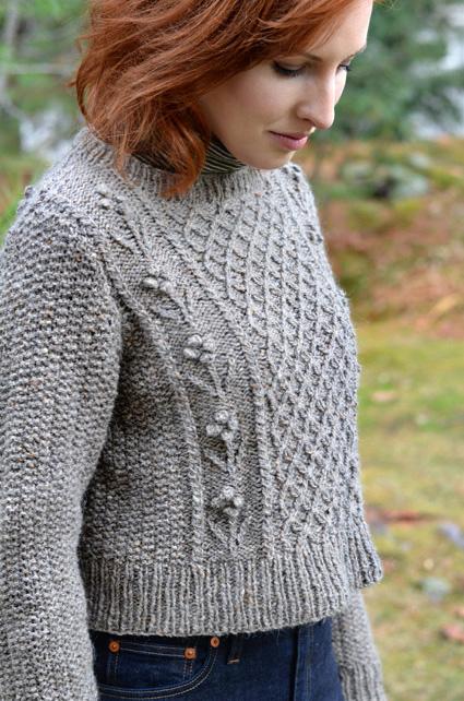 Helga Sweater Free Aran Knitting Pattern ⋆ Knitting Bee