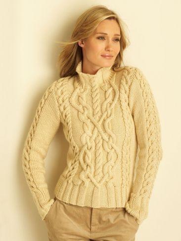 free aran sweater knitting patterns for women | Crochet / Knit