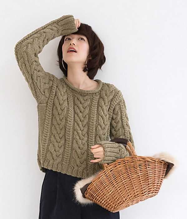 Basic Aran Sweater Free Knitting Pattern ⋆ Knitting Bee