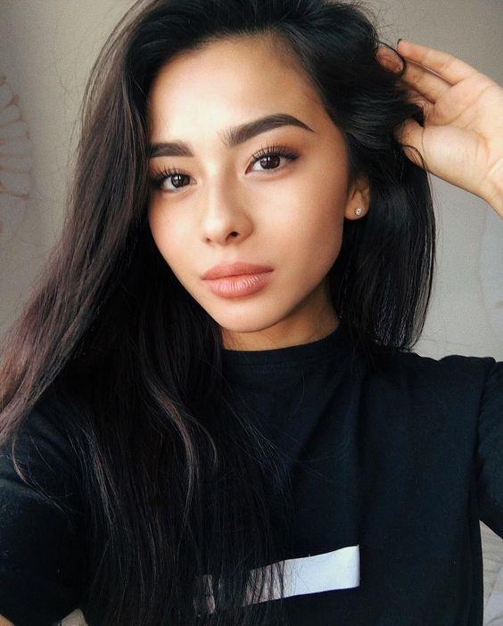 beautiful asian girl subtle classic natural makeup look | Classic