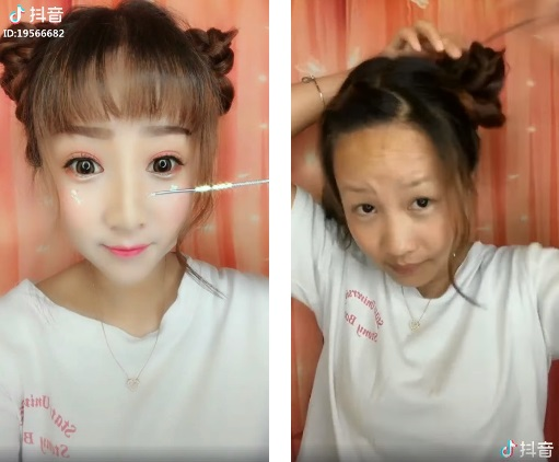 Cosmetic wizardry: Asian women removing makeup to reveal their true