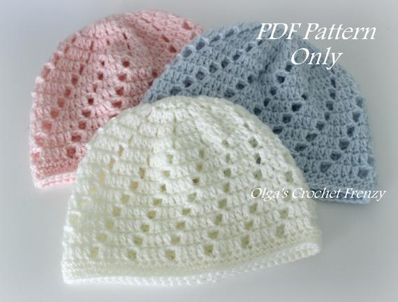 Varities of baby beanie crochet pattern