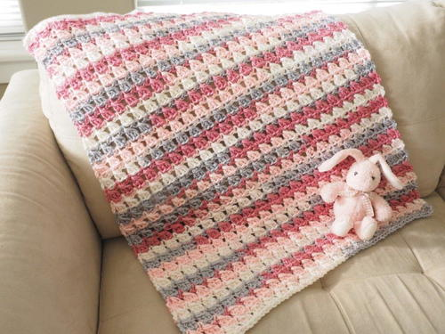 Cross-Over Block Stitch Baby Blanket Crochet Pattern
