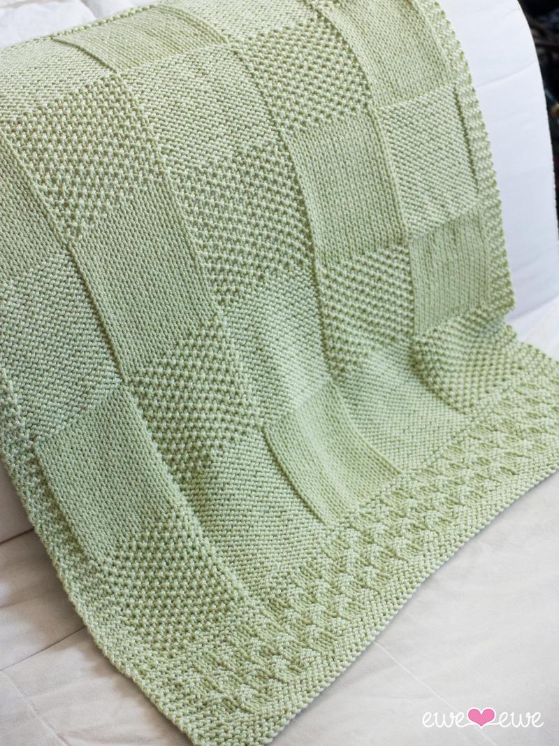 Charles + Chelsea PDF Baby Blanket Knitting Pattern u2014 Ewe Ewe Yarns