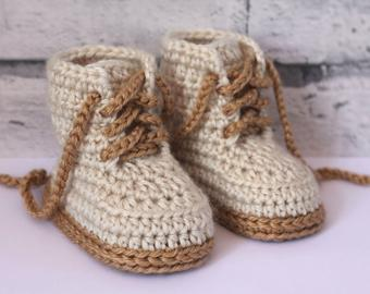 Crochet baby booties | Etsy