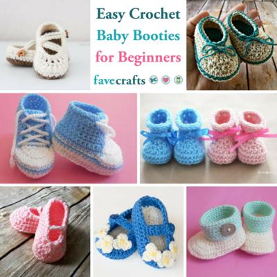 15 Easy Crochet Baby Booties for Beginners   FaveCrafts.com