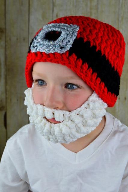 free shipping,Baby Crochet hat , children's Beanie Caps Santa Hat