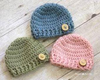 Baby crochet hat | Etsy