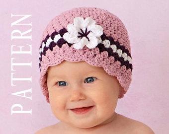 Beautifull and elegant baby crochet hats