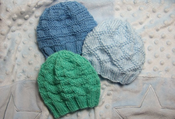 Textured Baby Hats - Baby Clothing Knitted My Patterns - - Mama's