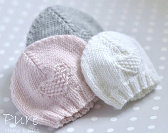 SIMPLE baby hat PREEMIE and NEWBORN knitting pattern | Etsy