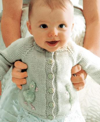 Chick - Free Baby Cardigan Knitting Pattern ⋆ Knitting Bee
