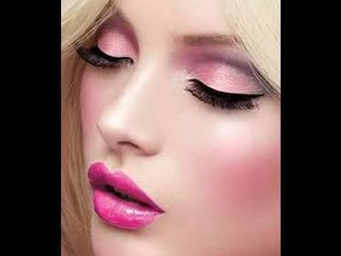 Barbie MakeUp -TUTORIAL - YouTube